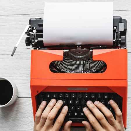 writing for job and work typewriter writing